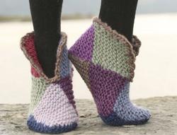 como tejer unas pantuflas de crochet 2