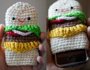 fundas de crochet para el móvil