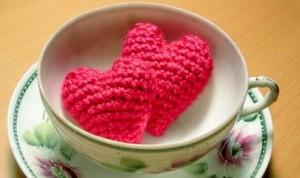 como hacer corazones de crochet