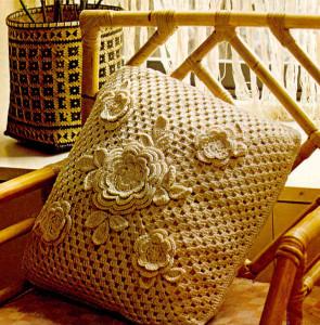 como hacer un cojin de crochet