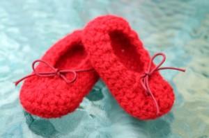 Como hacer unas balerinas de crochet para bebé