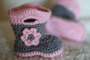 Como hacer zapatillas de crochet para bebé