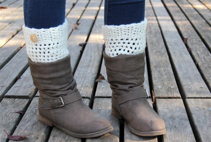 Como tejer calentadores de crochet - Simple Crochet