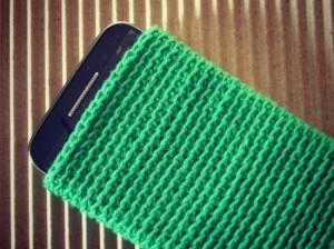 Como tejer una funda de crochet para el móvil