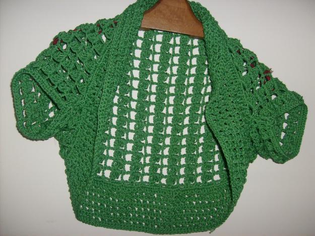 Bolero tejido a crochet