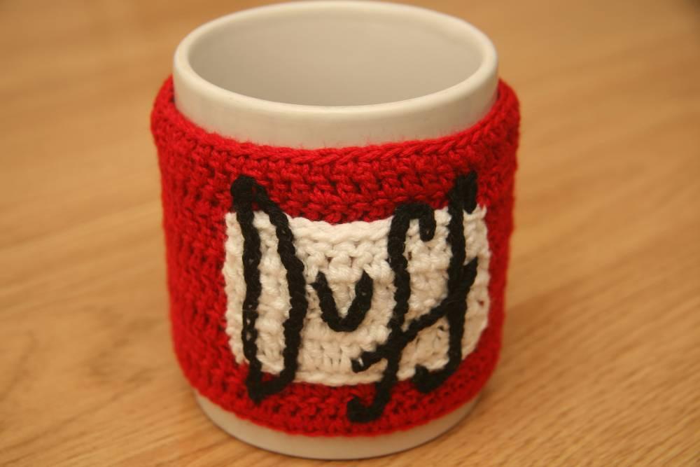 Cubretazas de crochet
