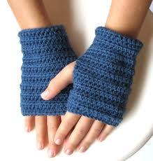 Mitones de crochet