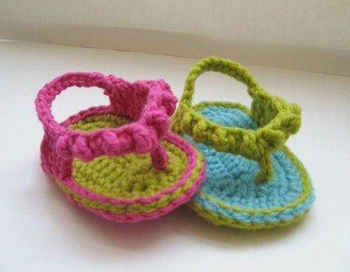 Sandalias de crochet para bebe - Simple Crochet