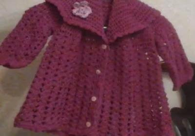 Abrigo de crochet para bebé