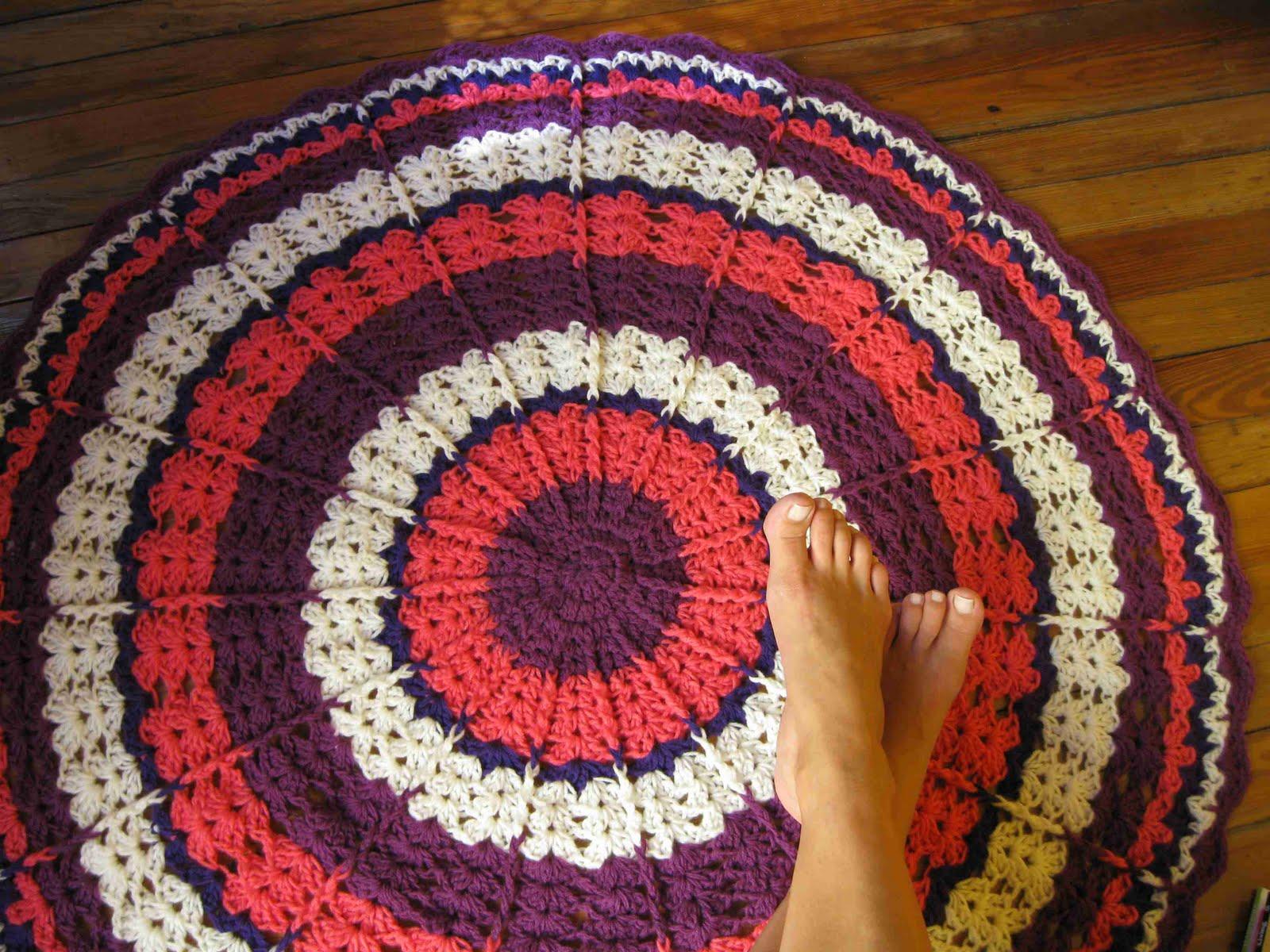 alfombra de crochet simple crochet