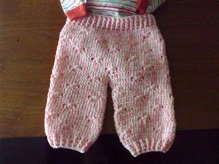 Pantalón de crochet para bebé