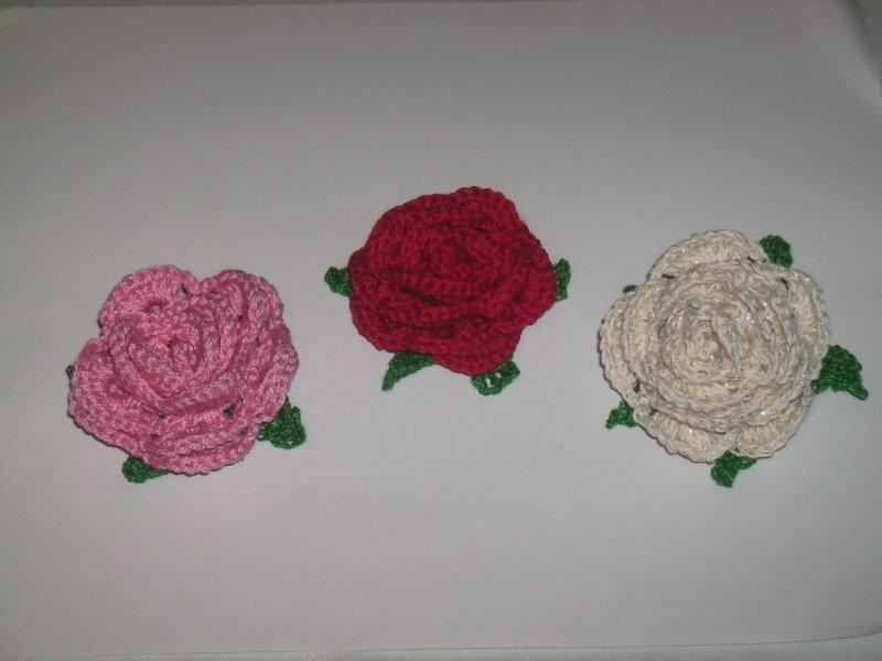 Rosas de crochet