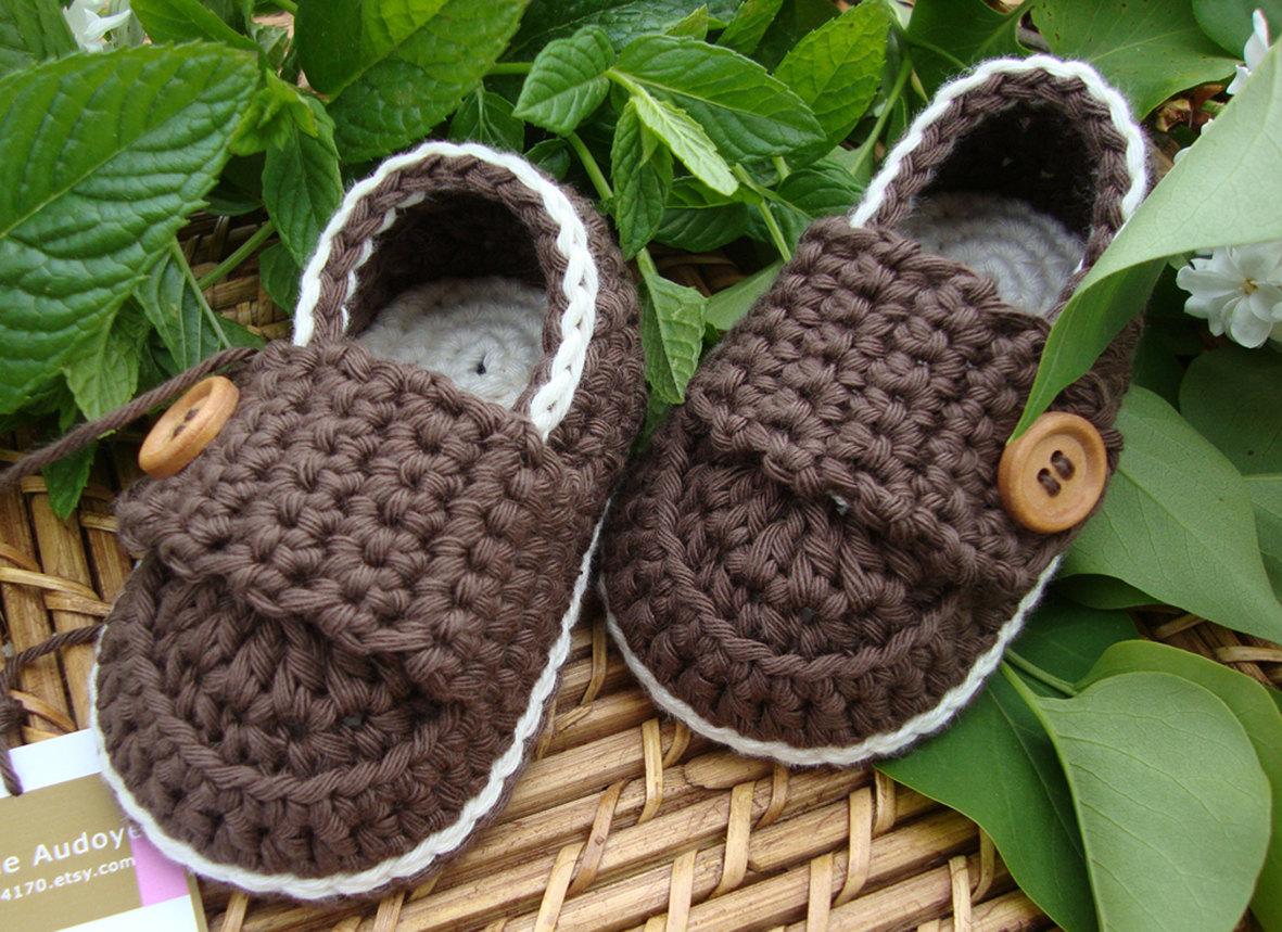 Mocasines de crochet para bebé - Simple Crochet