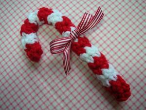 Caramelo de navidad a crochet