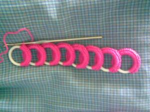 Diadema de aros a crochet