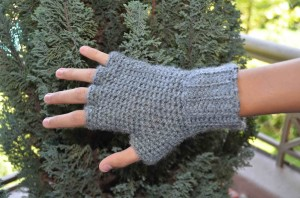 Guantes sin dedos a Crochet