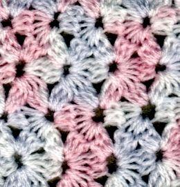 Cómo hacer el punto Jazmín a crochet