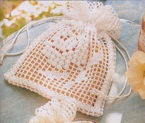 Bolsa de primera comunión a crochet
