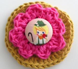 Broches a crochet