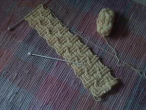 Bufanda a crochet punto cesta