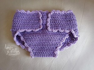 Cubrepañales a crochet