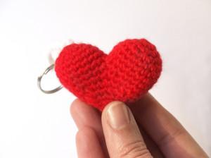 Llavero de corazón a crochet