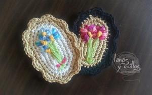 Cómo hacer un broche vintage a crochet