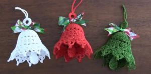 Campanas de navidad a crochet