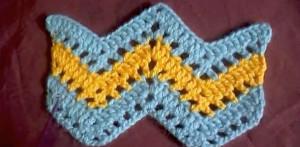 Como hacer punto zig zag calado a crochet