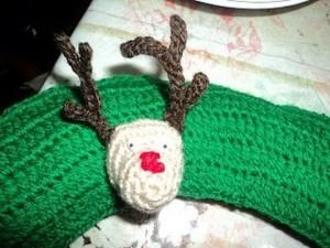 Renos de navidad tejidos a ganchillo