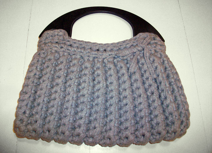 bolso de trapillo a crochet simple crochet
