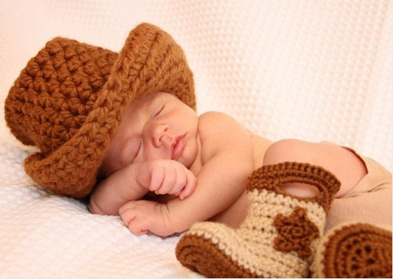 Botas cowboy a crochet para bebés - Simple Crochet