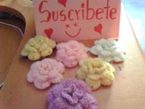 Flor abultada a crochet