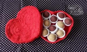 caja de bombones a crochet