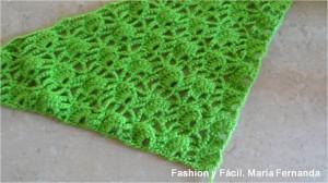 Cómo hacer un abanico triangular a crochet