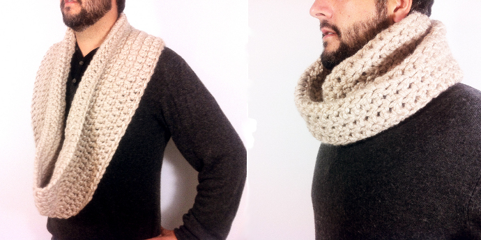 Tejer una bufanda infinita a crochet XL - Simple Crochet