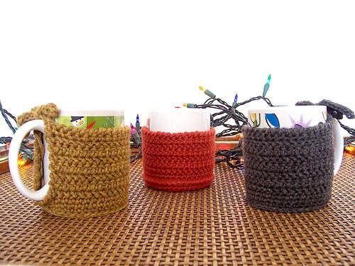 Patrón para cubretazas a crochet