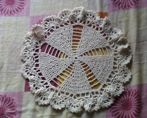 Tejido circular de 8 abanicos a crochet
