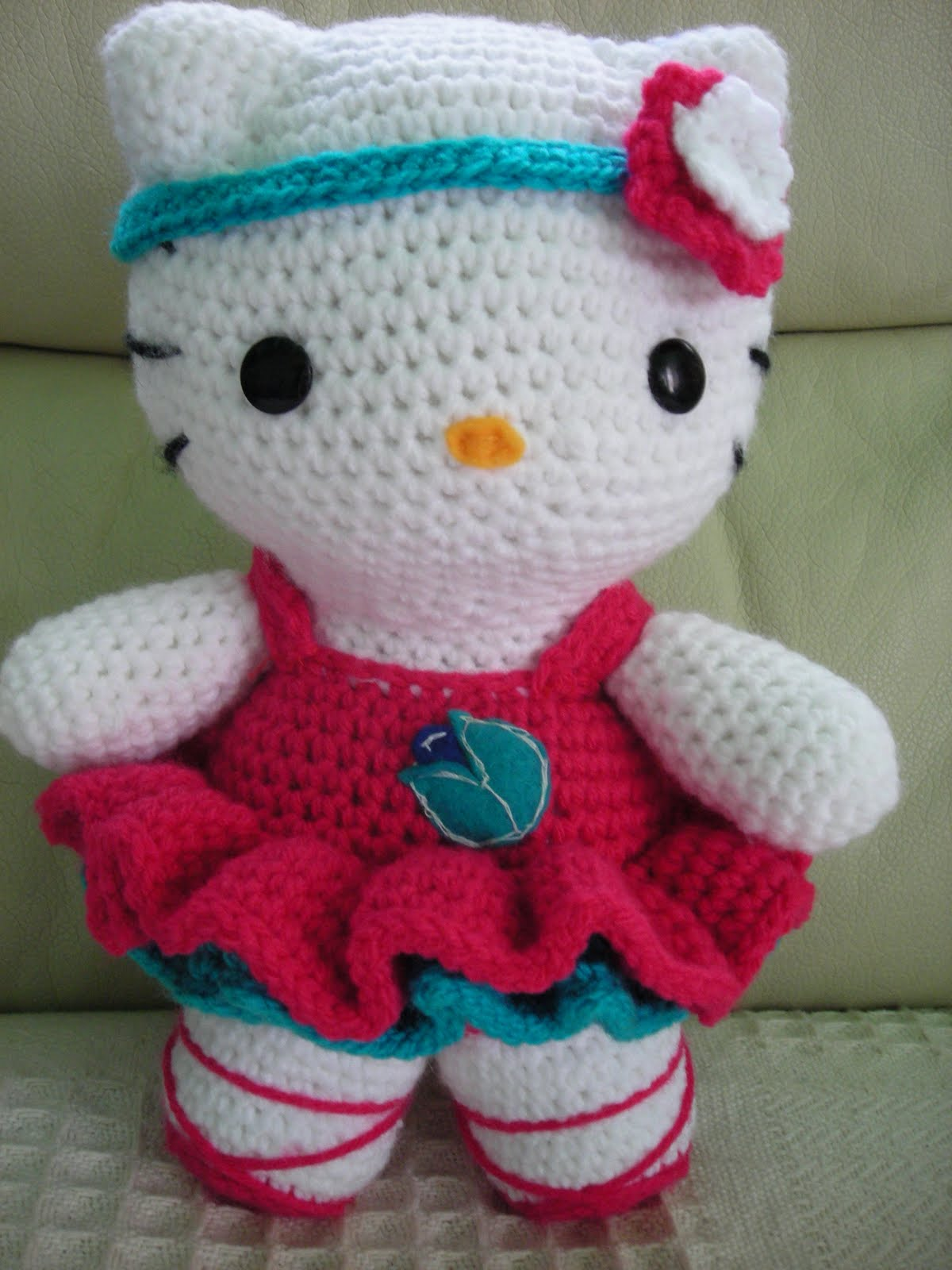 🎀HELLO KITTY AMIGURUMI🎀 - INTERMEDIO - CROCHET - GANCHILLO ... | 1600x1200