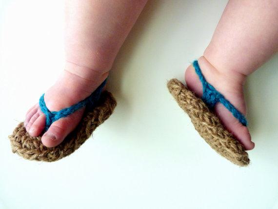 9c1d00ff1 Sandalias de crochet para bebé